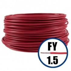 Cablu electric FY 1.5 – 100 M – H07V-U – rosu