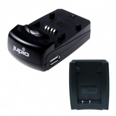 Incarcator Universal Jupio cu 1 baza si 1 USB, cu conector pentru acumulatori tip Olympus Li-40B/Li-42B
