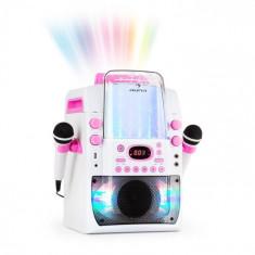 Auna KARA LIQUIDA BT, dispozitiv karaoke, show de lumini, fântănă de apă, bluetooth, culoare albă / roz