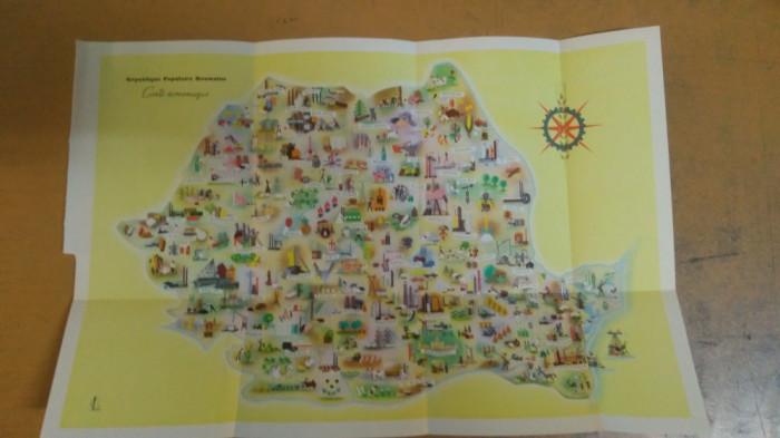 Harta economică a Republicii Populare Române