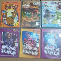 Lot 49 DVD-uri Oraselul Lenes, Tom&Jerry, Scooby-Doo, Thomas si prietenii lui...