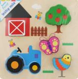 Cumpara ieftin Puzzle din lemn Baby Mix Ferma