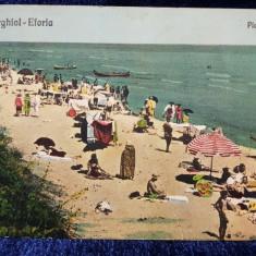 Techirghiol-Eforia. Plaja noua - CP Ilustrata