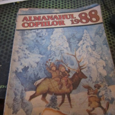 almanahul copiilor atentie are 3 cm rupti din coperta de fata jos an 1988 h 19
