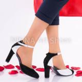 Pantofi dama eleganti din piele Ninna Art A51, 34 - 40, Multicolor, Cu toc