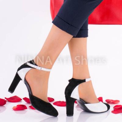 Pantofi dama eleganti din piele Ninna Art A51 foto
