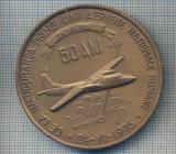 AX 14 -MEDALIE -50 DE ANI DE LA INFIINTAREA PRIMEI LINII AERIENE ROMANE1926-1976