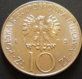 Moneda 10 ZLOTI - POLONIA, anul 1975 *cod 4967 - Adam Mickiewicz