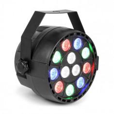 MAX Party, reflector PAR, 12 x 1 W, LED-URI RGBW, DMX, operare separată, control audio, 7 canale