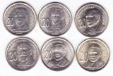 Moneda Serbia 20 Dinari 2006-12 - UNC ( set x6 comemorative - personalitati ), Europa
