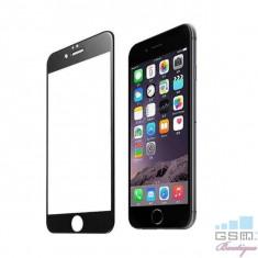 Geam Folie Sticla Protectie Display iPhone 8 Acoperire Completa Negru 4D, Apple