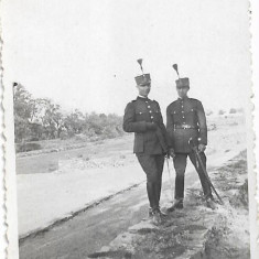 Fotografie elevi militari romani cu sabii anii 1920 atelier Kecskemeti