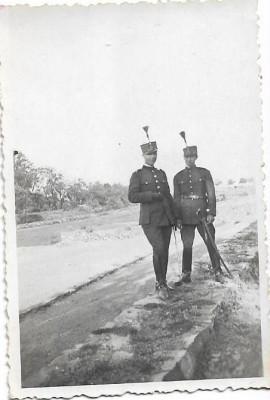 Fotografie elevi militari romani cu sabii anii 1920 atelier Kecskemeti foto
