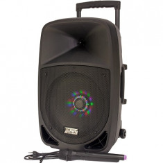 Boxa portabila activa iluminata led 12 inch/30cm 300w rms cu usb/sd/bt/fm