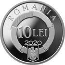 Romania 10 Lei 2020 - (50 ani Francofonie) Argint 31.103g/999, KM-New UNC !!!
