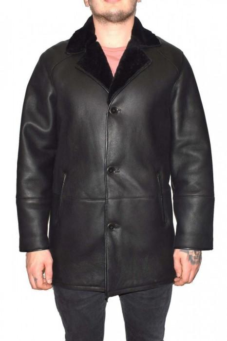 Cojoc barbati, din blana naturala, Kurban, 2-01-95, negru