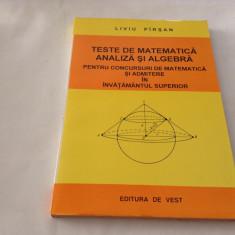 TESTE DE MATEMATICA ANALIZA SI ALGEBRA-LIVIU PARSAN