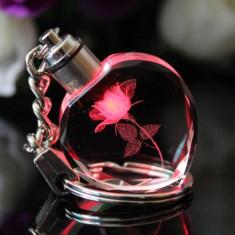 Breloc cu leduri:trandafir