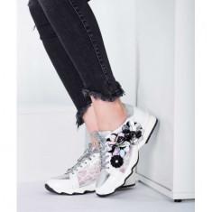 Sneakers piele naturala Alb 39