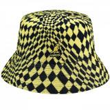 Palarie Kangol Warped Check Bucket Bleumarin-Galben (S,M,L.XL) - Cod 202902