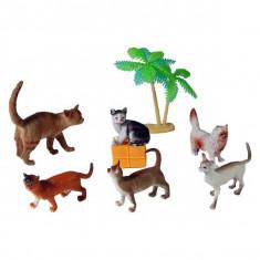 Jucarie Set animale pisici de rasa cu palmieri