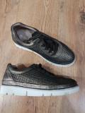 LICHIDARE STOC!Superbi pantofi dama noi piele + textil foarte usori si comozi 37