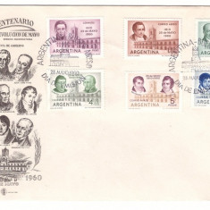 Argentina 1960 - Revolutia, FDC