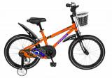 Bicicleta copii 16 FIVE Cherubi cadru otel culoare portocaliu negru roti ajutatoare varsta 4 6 ani