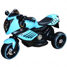 Motocicleta cu acumulator si 2 motoare 6V Albastru
