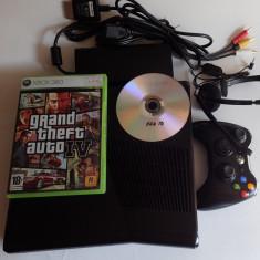 Consola Microsoft Xbox 360 Slim Modat DVD fotbal FIFA19 GTA joc Gratis si online