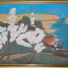 "Reproducere "" Primavara la Balcic"", LEON BIJU,  30x40 cm"