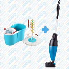 Pachet curățenie ZILAN, Aspirator VERTICAL + Mop ROTATIV 360 de grade