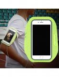 Husa telefon de alergare, universala pana la 5.5 inch, verde fosforescent, Floveme