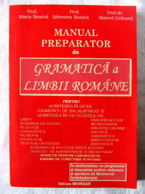 """MANUAL PREPARATOR DE GRAMATICA A LIMBII ROMANE"", M. Boatca / M. Crihana, 1996 foto"