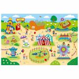 Parcul de distractii Giant Floor Puzzle, 30 piese, Galt