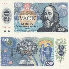 1988 , 20 korun ( P-95 ) - Cehoslovacia - UNC