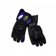 Manusi moto piele lungi , culoare negru/albastru , marime M Cod Produs: MX_NEW MX5454
