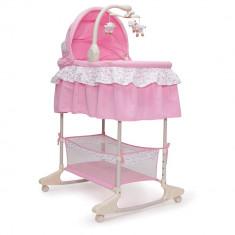 Patut leagan cu vibratii si muzica pentru bebelusi Nap Pink, Cangaroo