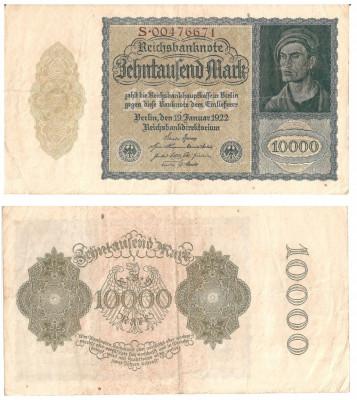 bancnote 10000 marci 1922 -Germania foto