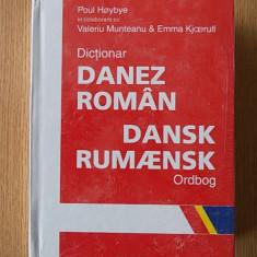 DICTIONAR ROMAN- DANEZ, PAUL HOYBYE, MUNTEANU, cartonata, 2003-40.000 cuvinte
