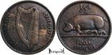 1935, ½ pingin - Irlanda, Europa