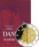 SAN MARINO 2015 2 Euro comemorativ -750 ani – nasterea lui Dante - BU / Folder, Europa
