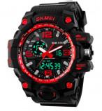 Cumpara ieftin Ceas Luxury Shock Military Subacvactic SKMEI 1155 WR50M 3 culori Calendar etc, Lux - sport, Quartz, Cauciuc