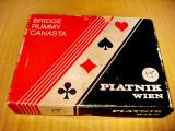 B656-Set 2 perechi Carti joc Piatnik Viena incomplet.