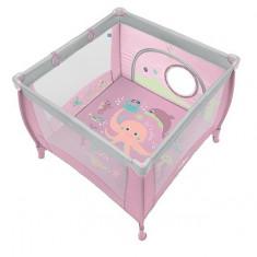 Tarc pliabil Play up roz Baby Design cu inele ajutatoare