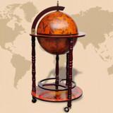 VidaXL Bar pentru sticle de vin, tip glob pământesc, lemn