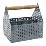 Cutie depozitare, 15 x 20 x 20 cm, metal/lemn, Gri, General