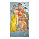 Tablou Feng Shui cu cei trei intelepti, nemuritori Fuk Luk Sau