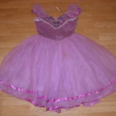 costum carnaval serbare rochie gala dans balet floare pentru copii de 10-11 ani