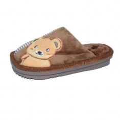 Papuci de casa pentru baieti Haotai 32891-MA, Maro